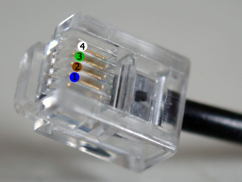 2 off rj11 crimp connectors – 4 connector, they come in 4 and 6 connector  styles  you need the 6 position style but with only 4 connectors fitted  a  6p4c