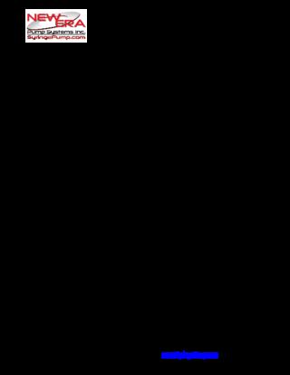 NE-1000X User Manual Addendum