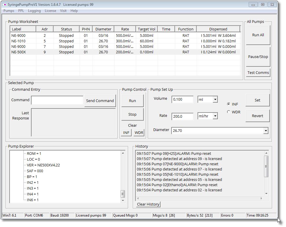V1 Pump Mix Screenshot